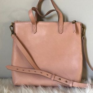 Madewell small zip top Transport Tote Bag pink